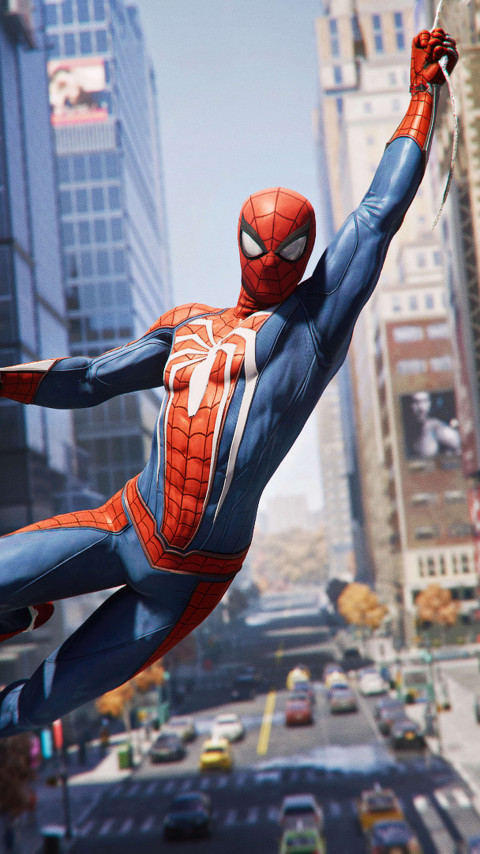 Spider Man from the video game | 480x854 wallpaper