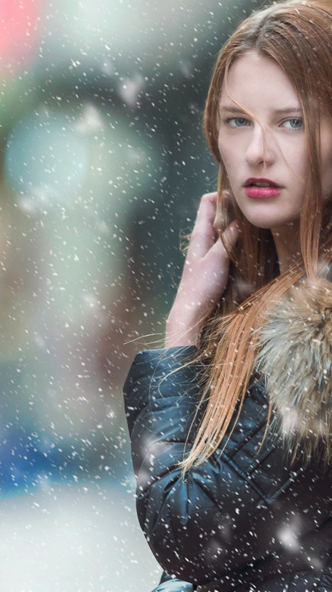 Blue eyes, model. fashion, portrait | 480x854 wallpaper