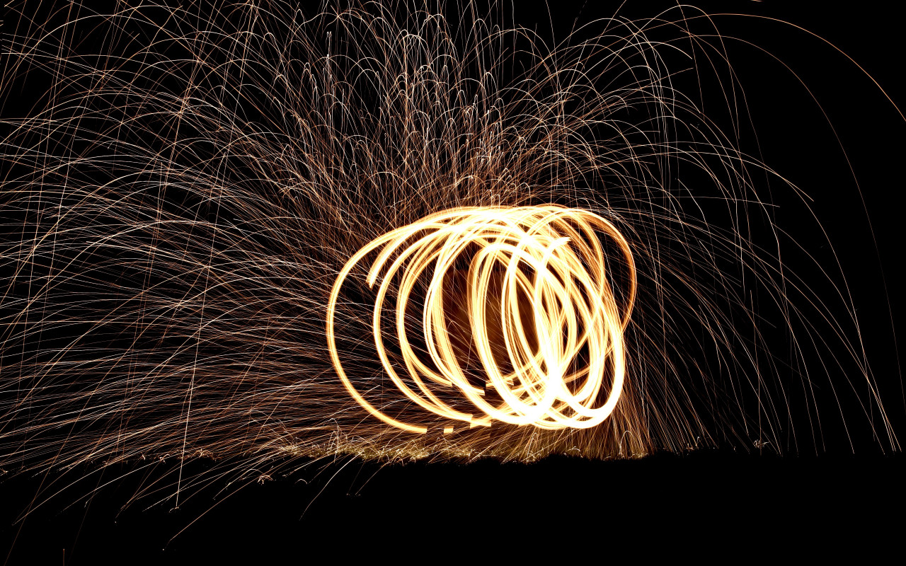 Spinning wire wool wallpaper 1280x800