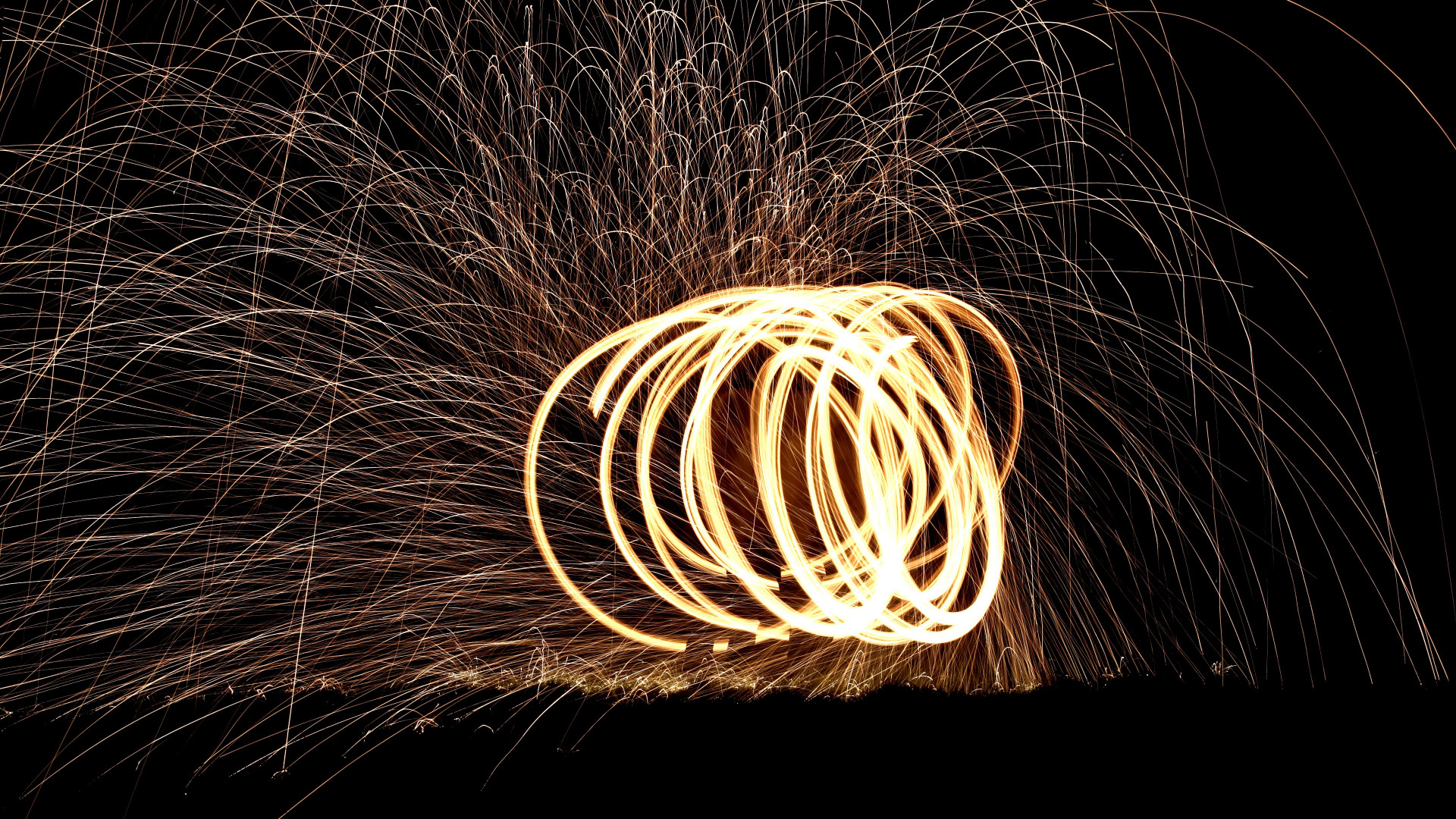 Spinning wire wool wallpaper 1920x1080