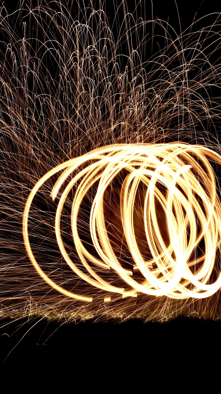Spinning wire wool wallpaper 750x1334