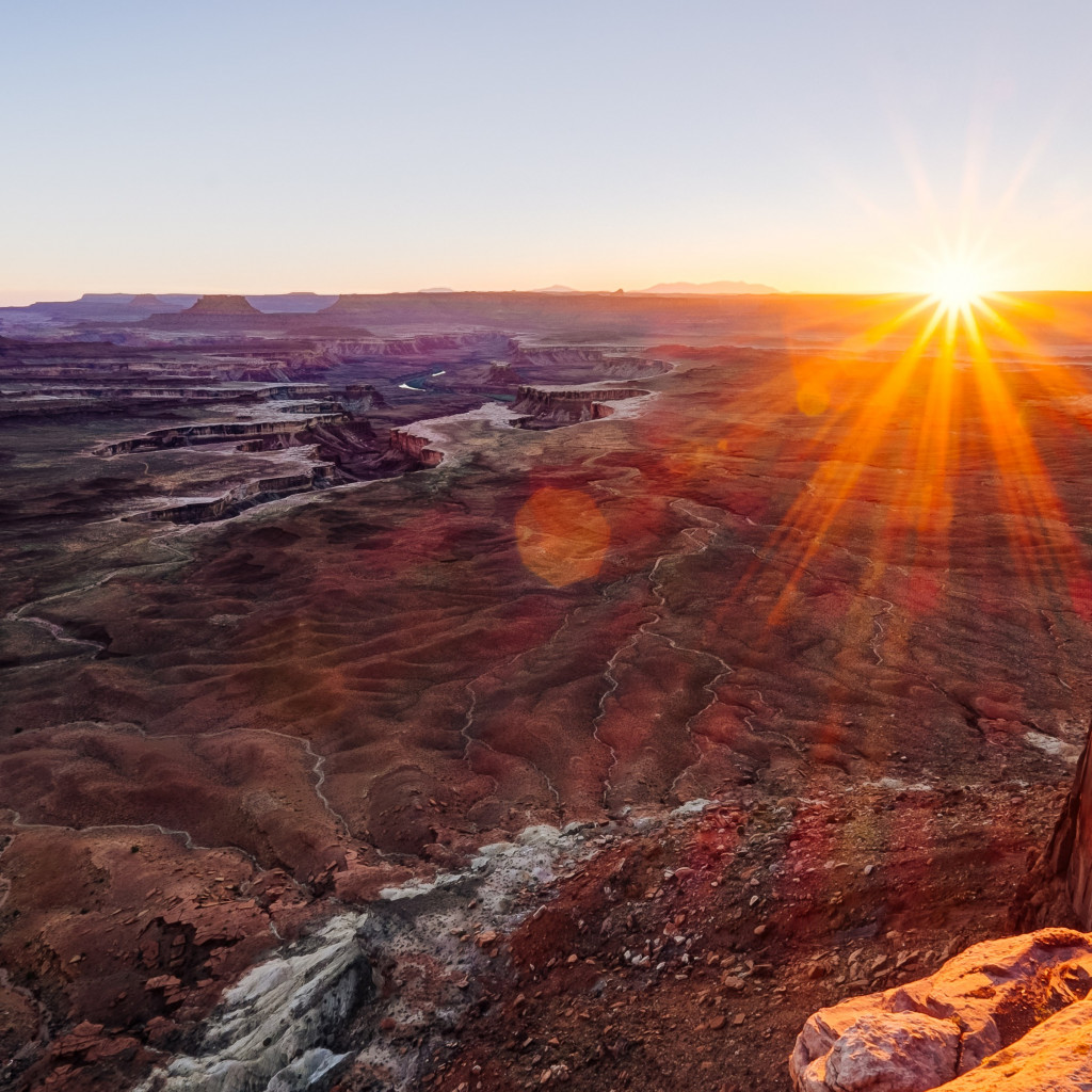 Canyonlands National Park view wallpaper 1024x1024