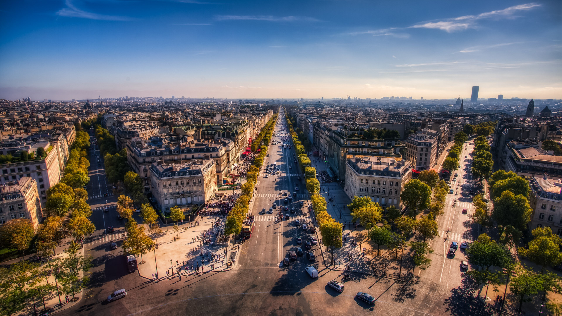 Champs Elysees. Paris, France wallpaper 1920x1080