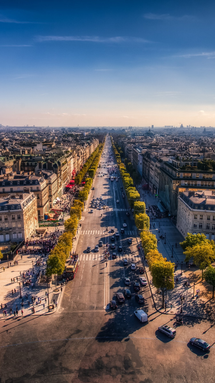 Champs Elysees. Paris, France wallpaper 750x1334