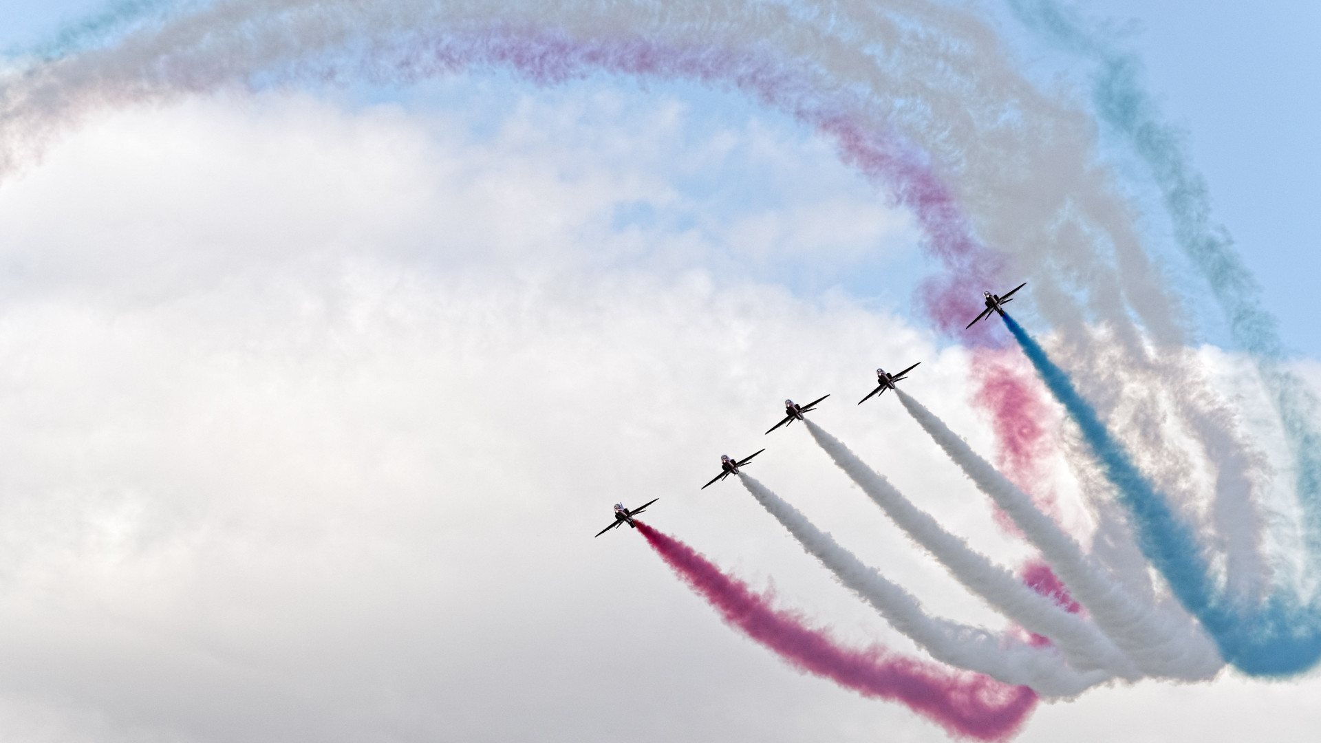 Red Arrows at Sywell Air Show wallpaper 1920x1080