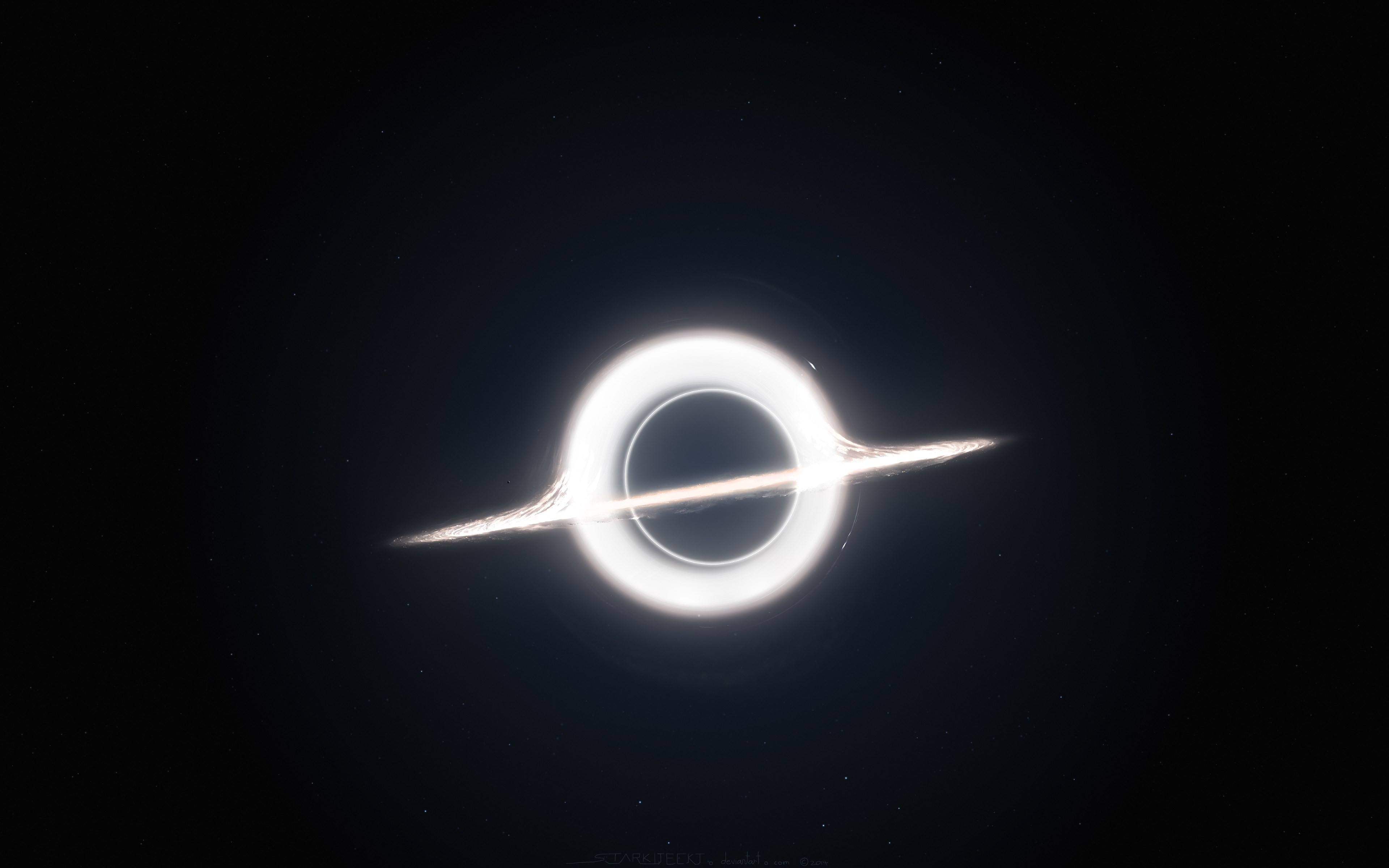Gargantua inspired by Interstellar movie | 3840x2400 wallpaper