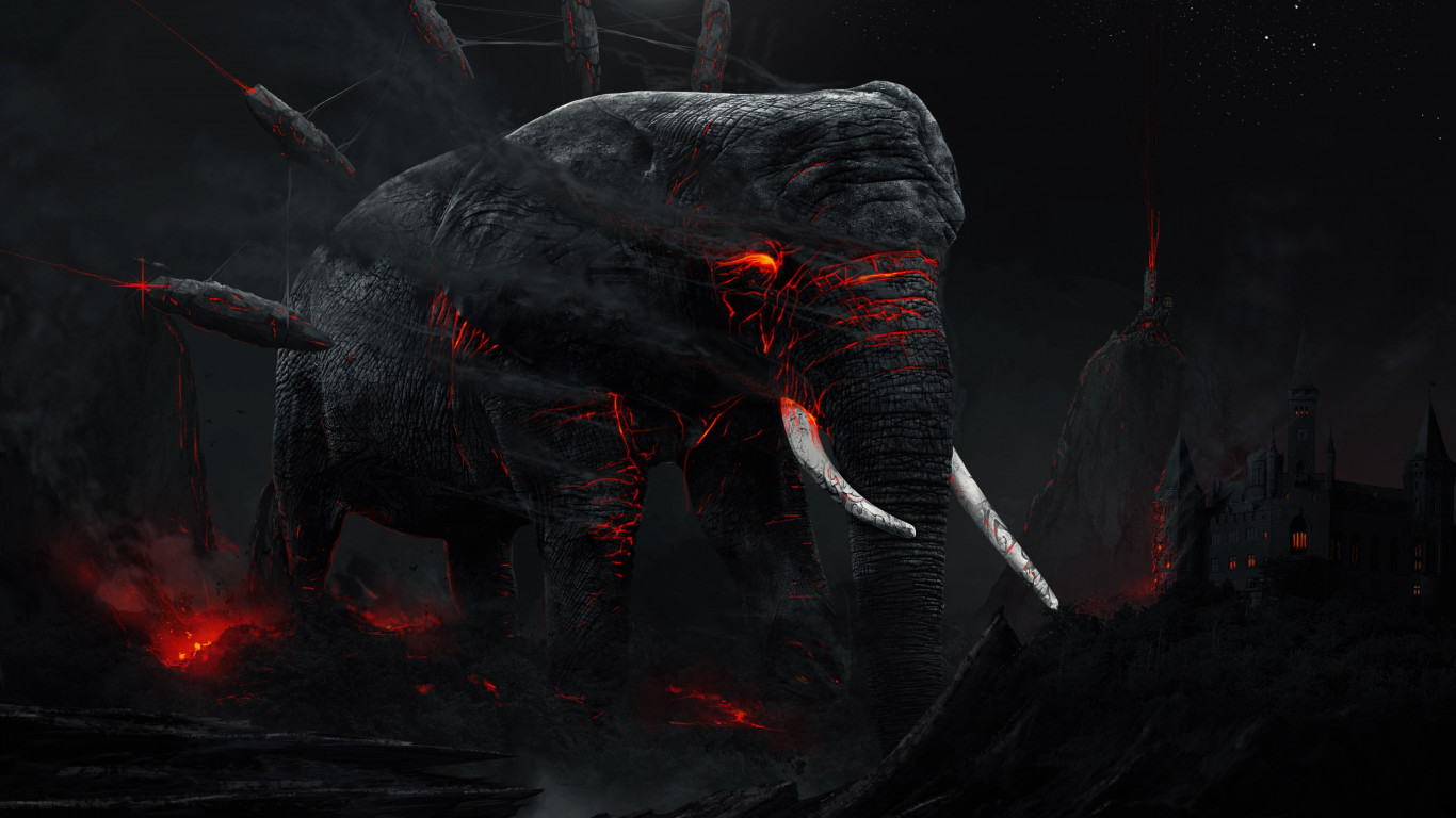 Revenge of the elephant | 1366x768 wallpaper