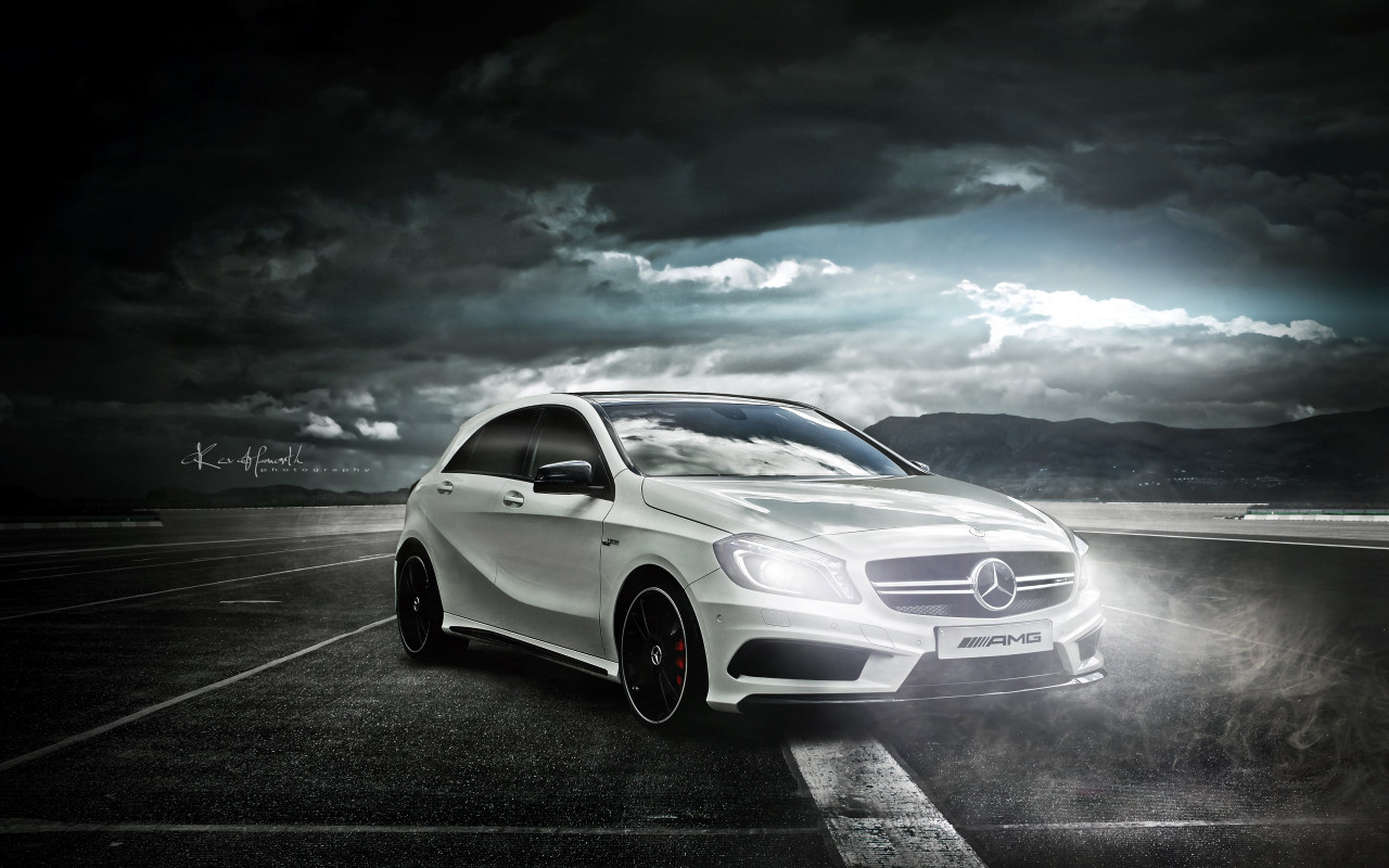 Mercedes AMG A45 wallpaper 1280x800