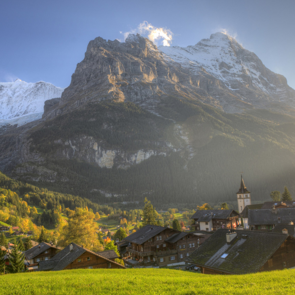 Best landscape from Bernese Alps wallpaper 1024x1024