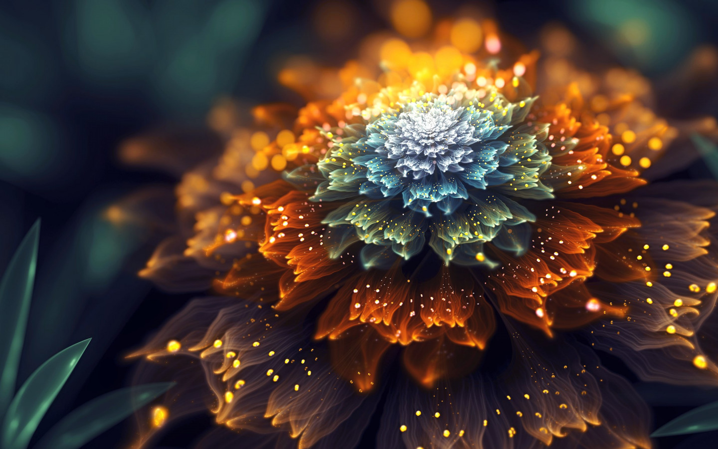 Sudden Sunshine. Fractal digital art wallpaper 1440x900