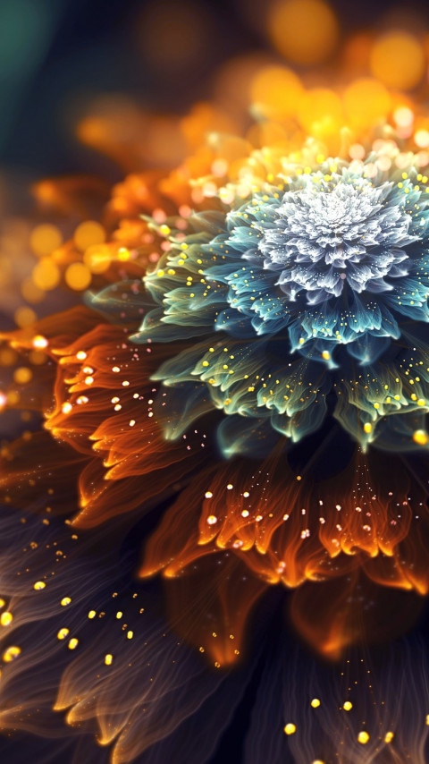 Sudden Sunshine. Fractal digital art wallpaper 480x854