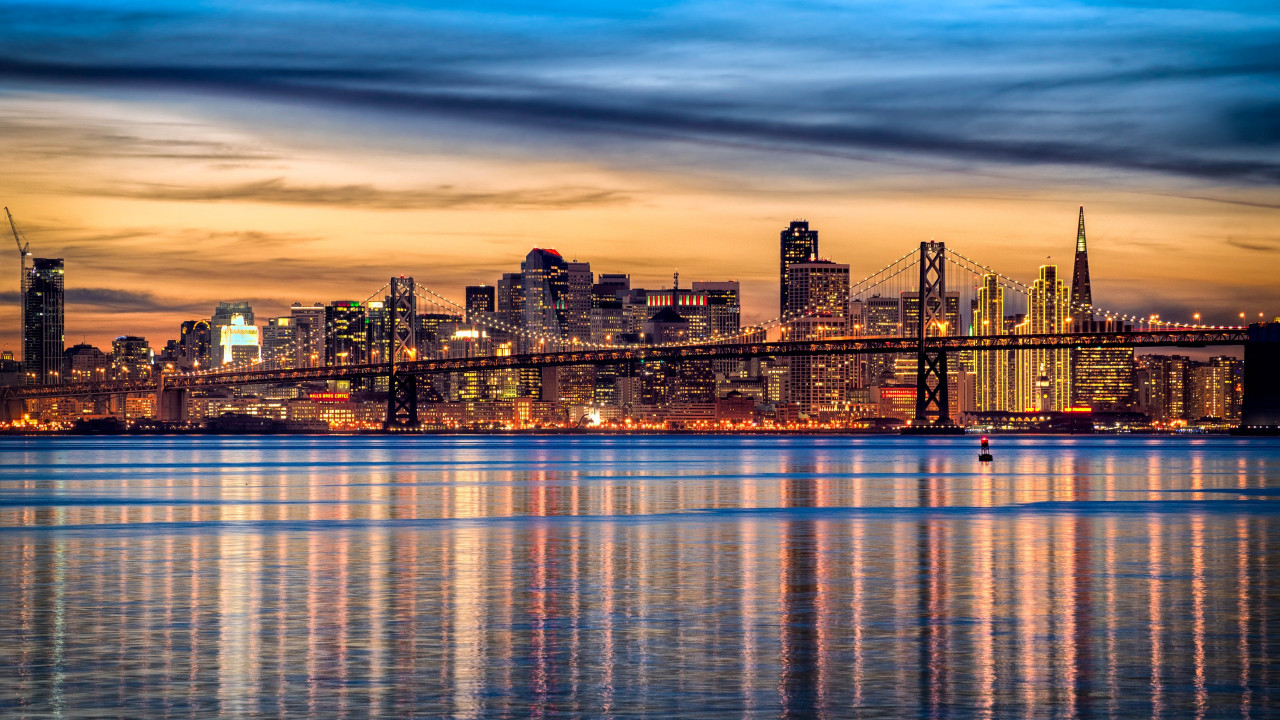 San Francisco cityscape wallpaper 1280x720