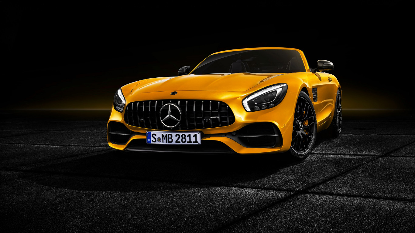 Mercedes AMG GT S Roadster | 1366x768 wallpaper