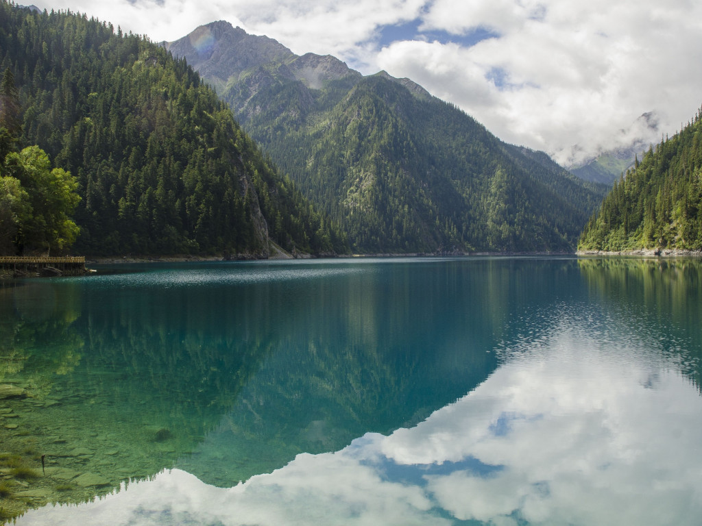 Landscape from Jiuzhaigou valley wallpaper 1024x768