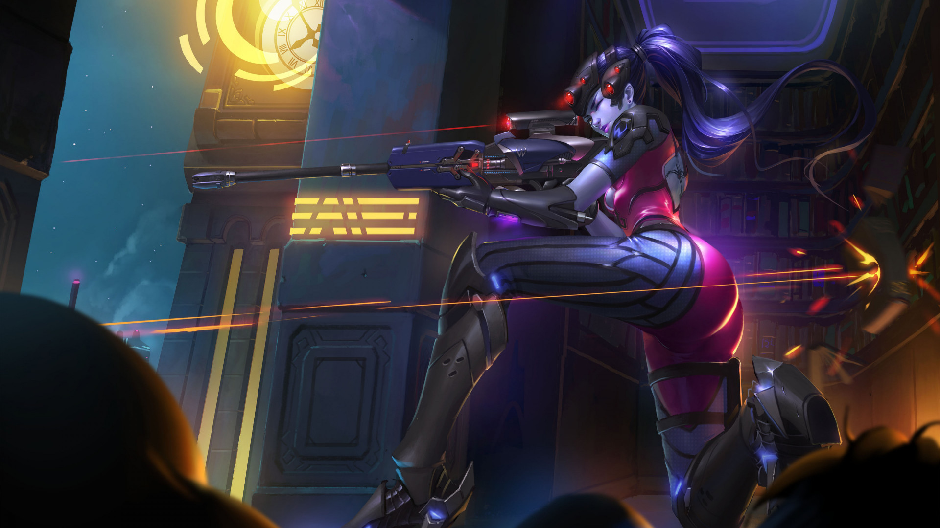 Download wallpaper: Widowmaker from Overwatch 1920x1080