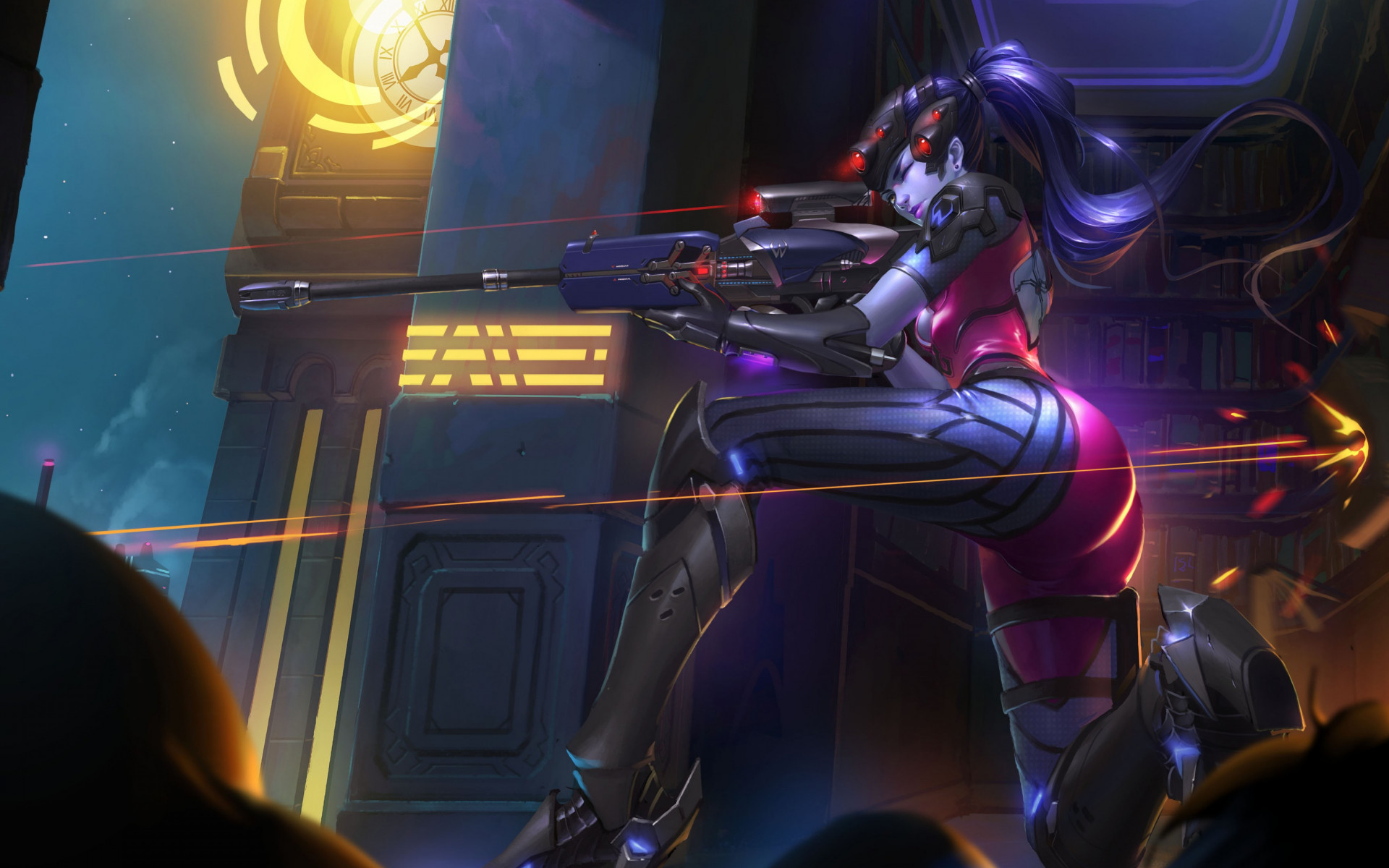 Widowmaker from Overwatch wallpaper 1920x1200