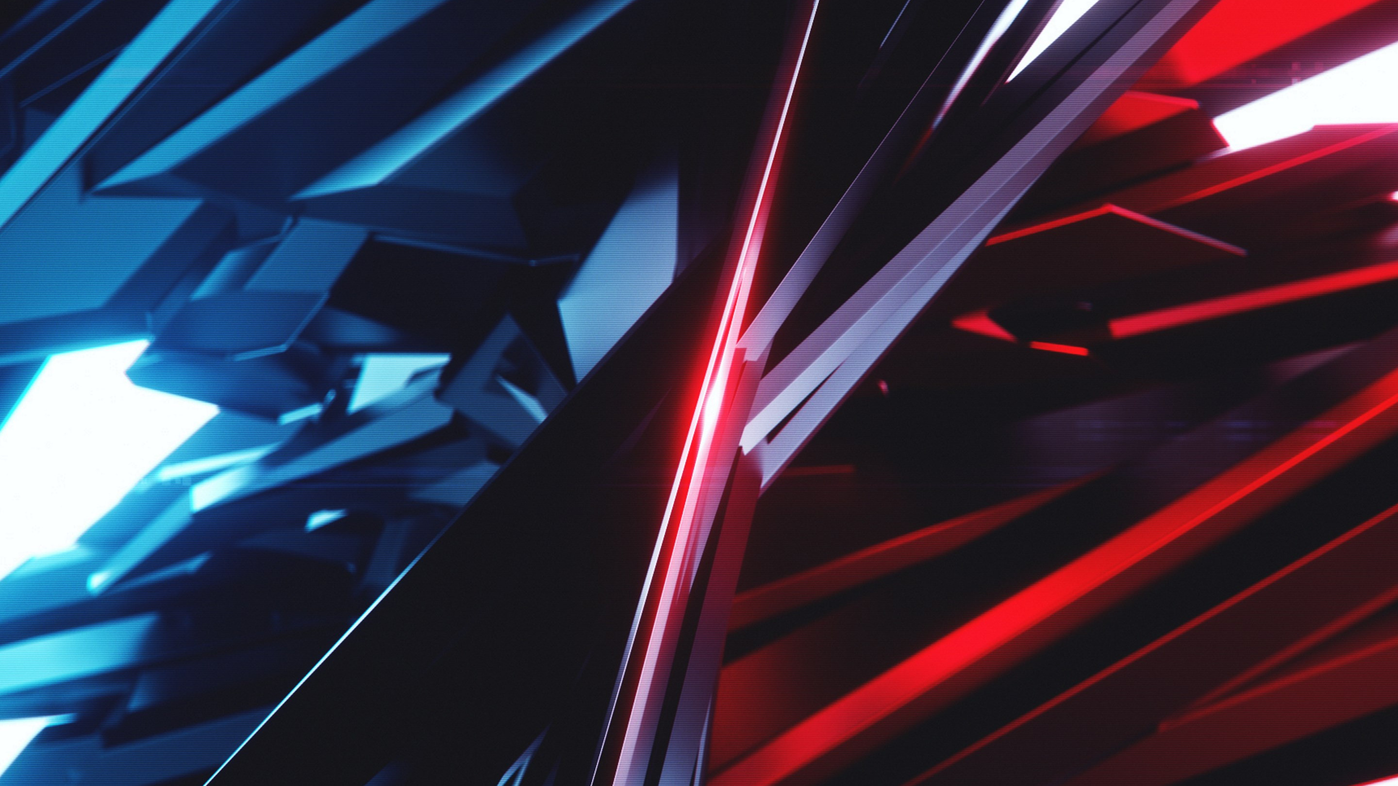 Abstract 3D: Blue vs Red wallpaper 2880x1620