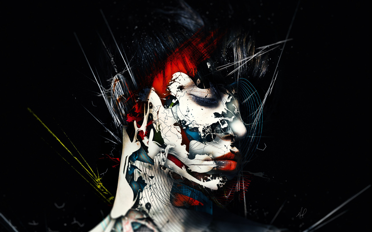 Creative art: Surreal portrait | 1280x800 wallpaper