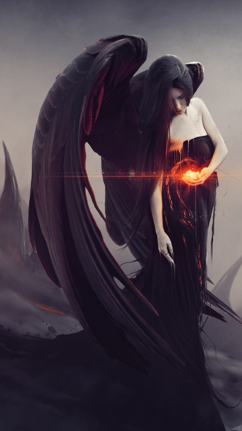 Digital art: Lilith wallpaper 480x854