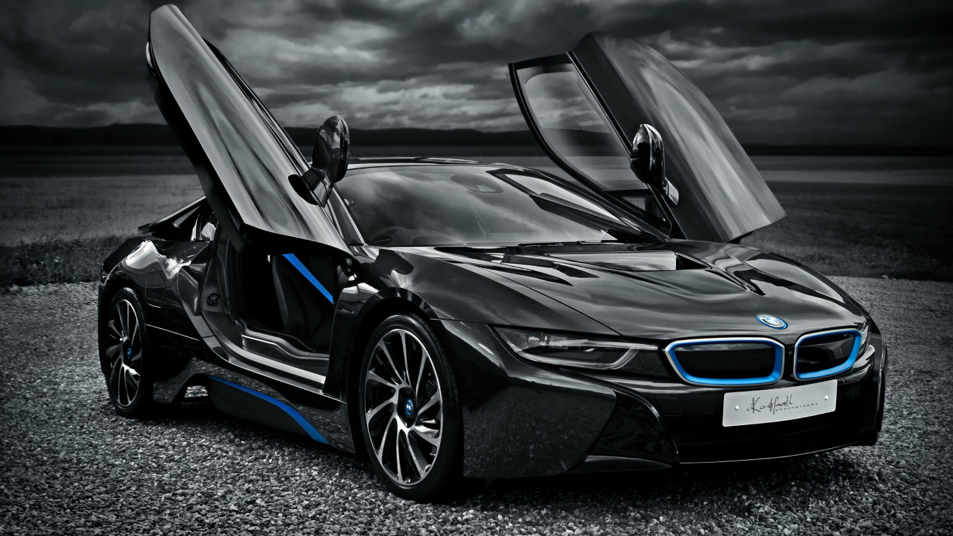 BMW i8 hybrid car wallpaper 1366x768