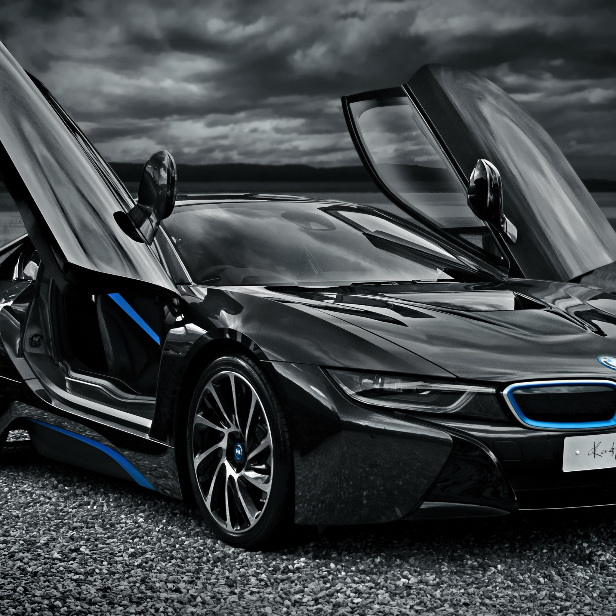 BMW i8 hybrid car wallpaper 2048x2048