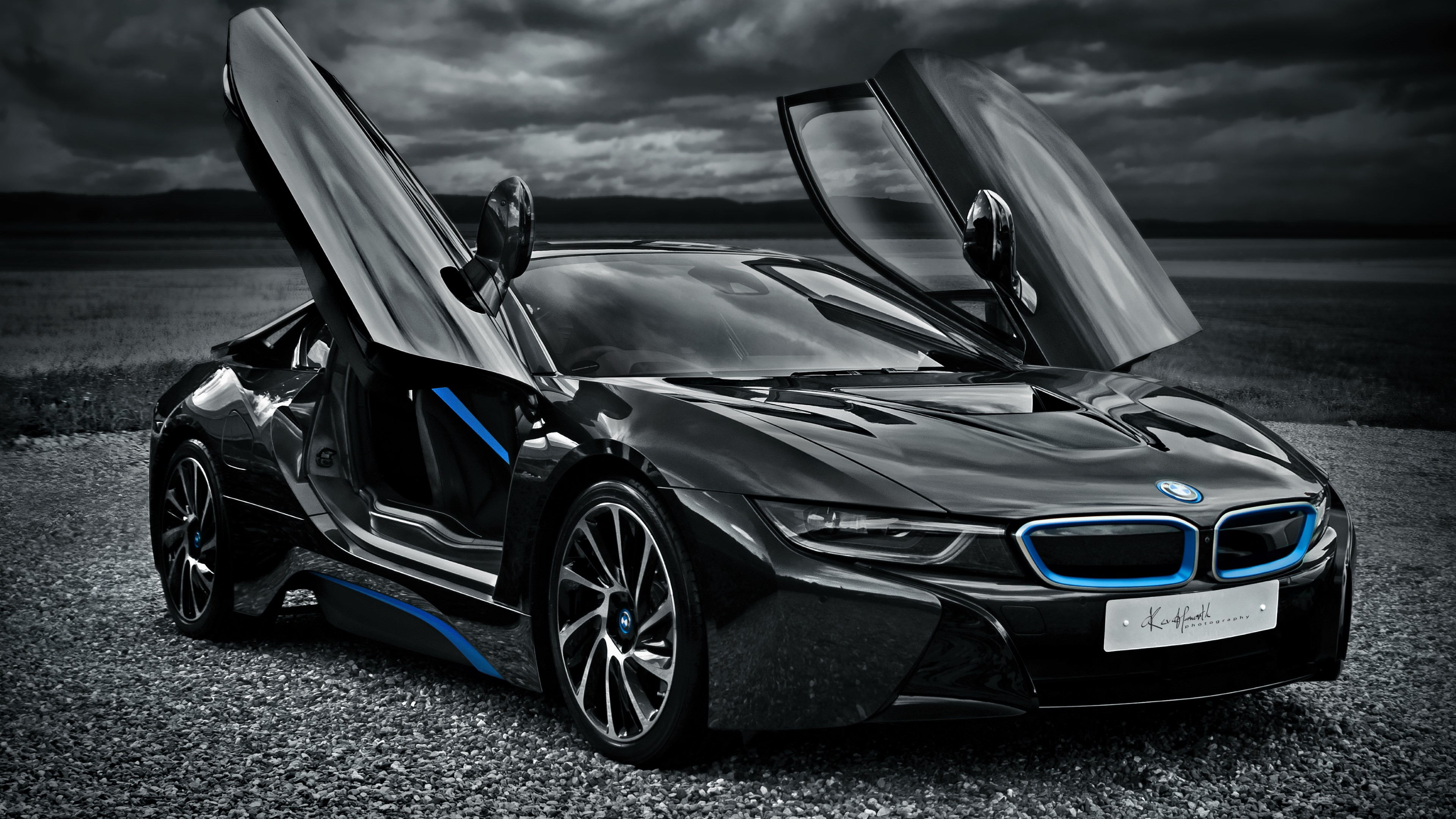 BMW i8 hybrid car wallpaper 3840x2160