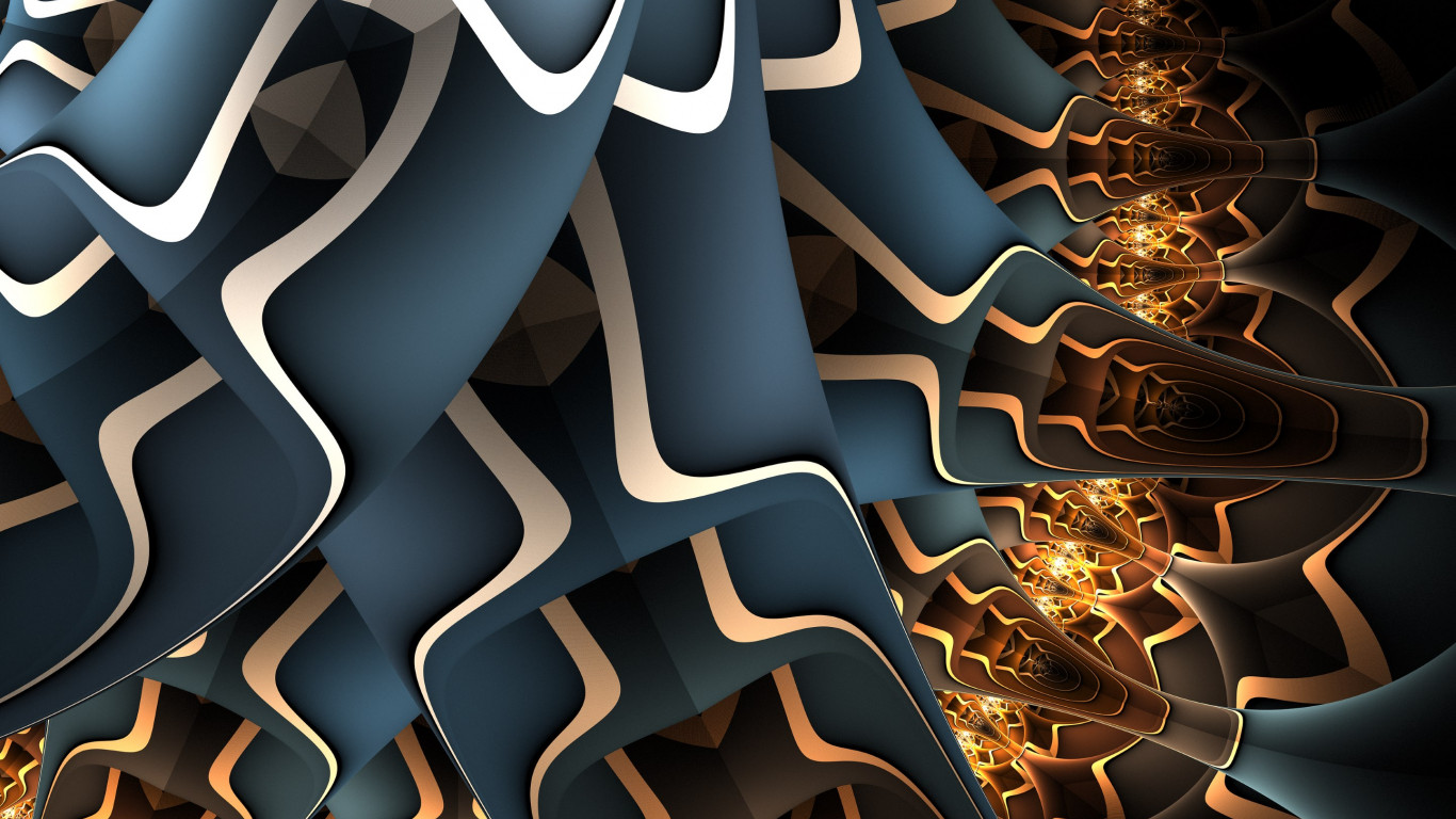Abstract fractal art wallpaper 1366x768