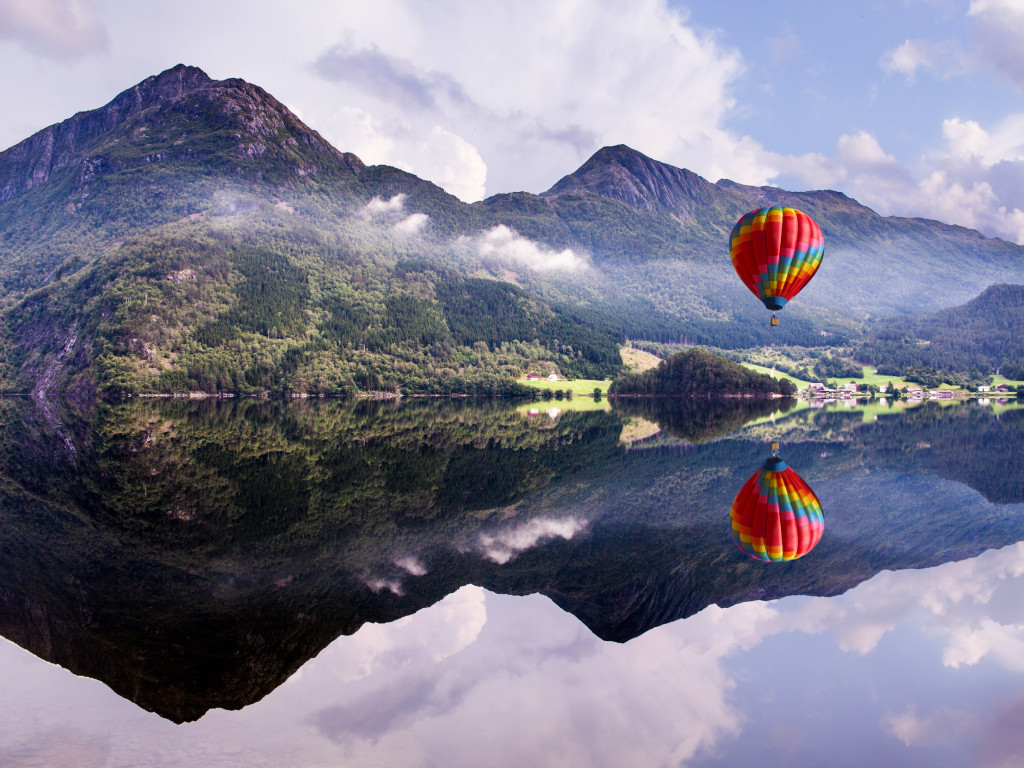 Fly in a hot air balloon | 1024x768 wallpaper