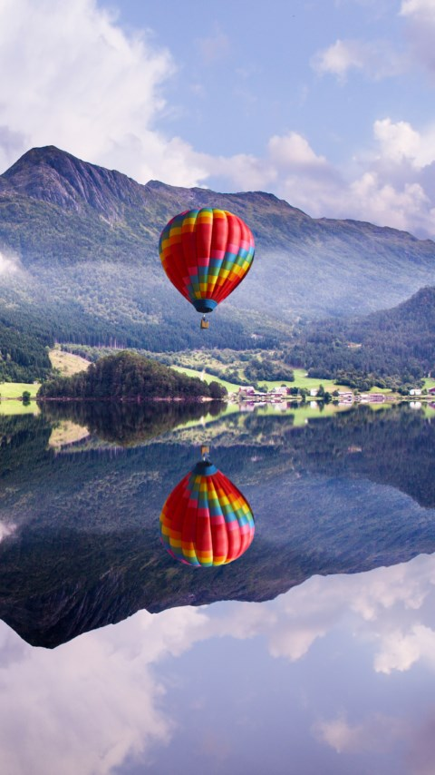 Fly in a hot air balloon wallpaper 480x854