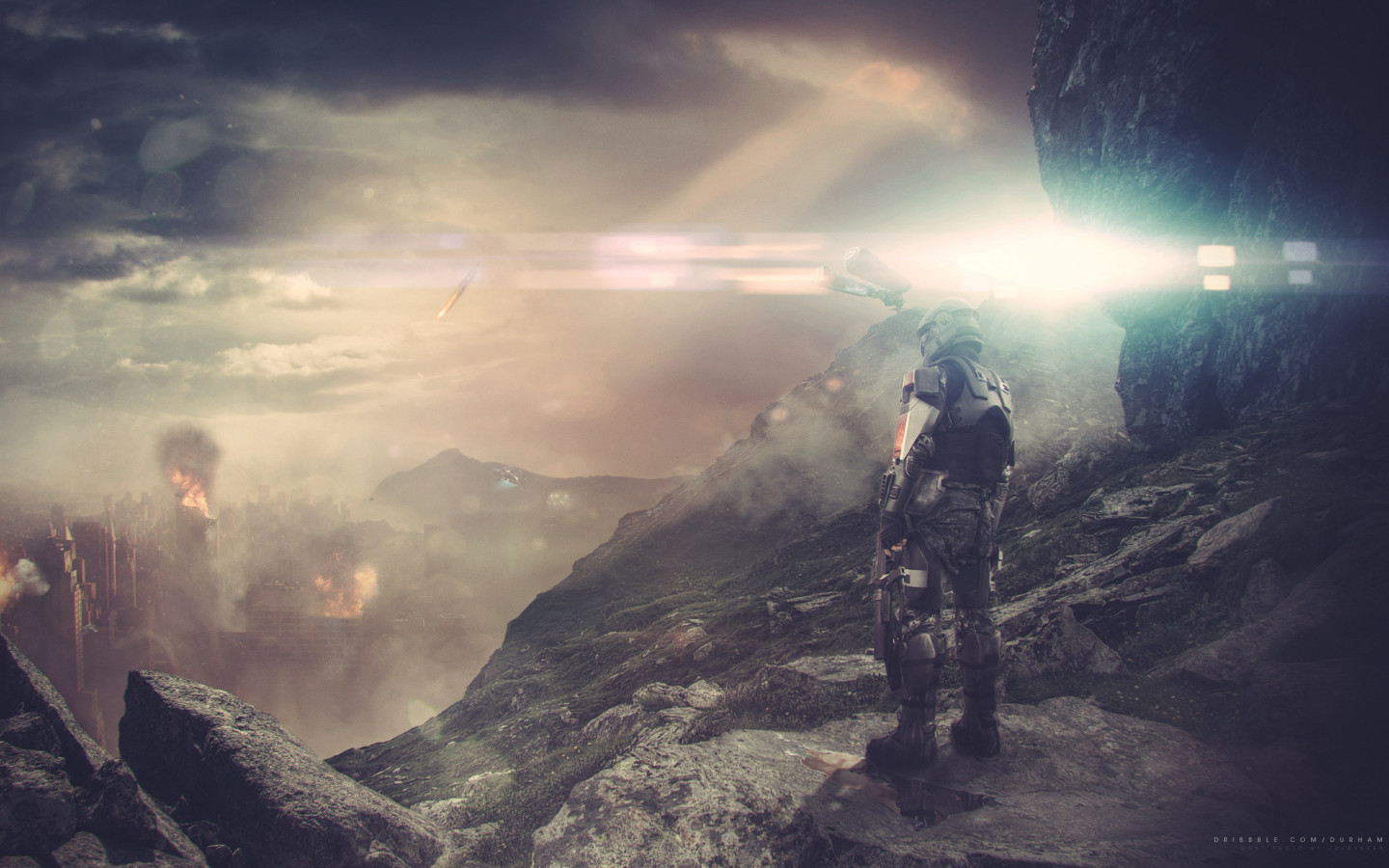 Halo ODST game fan art wallpaper 1440x900