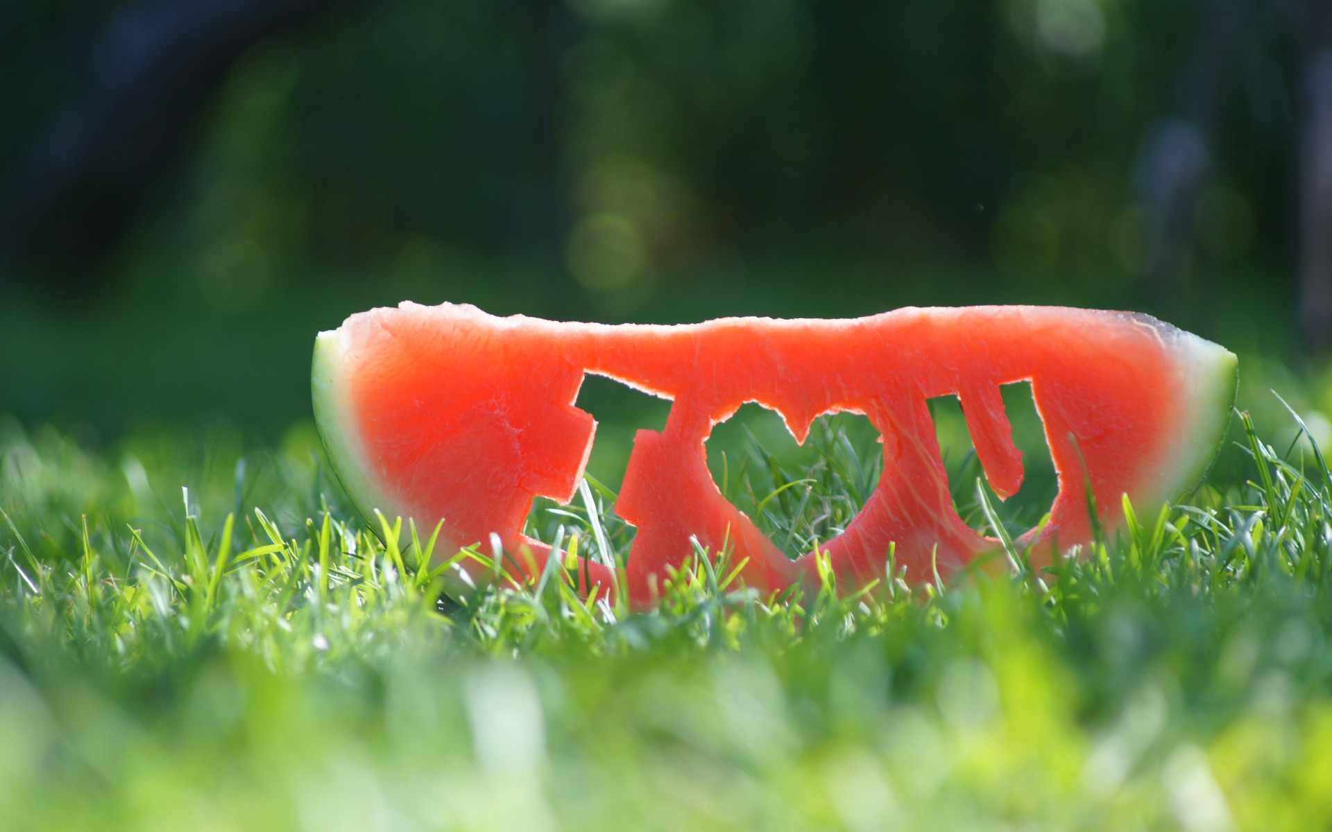 I love you through a watermelon slice wallpaper 1920x1200
