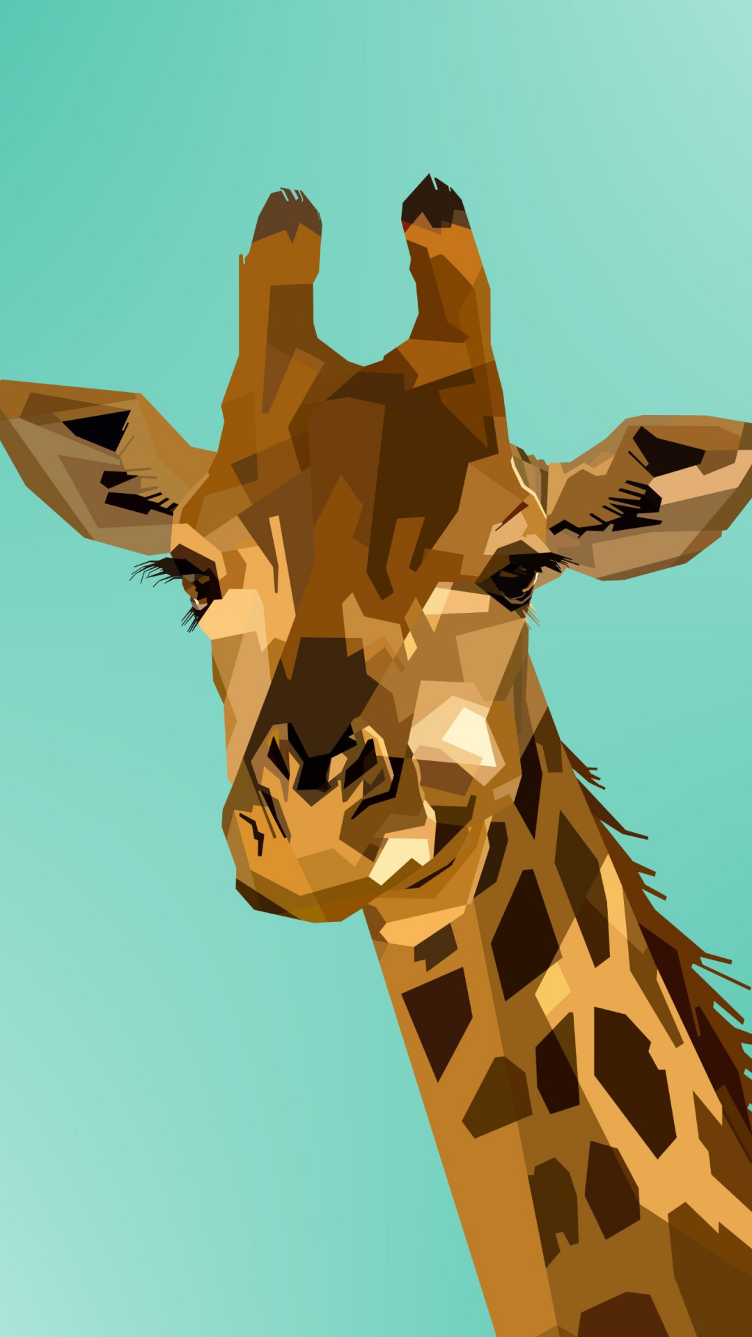 Digital drawing of a giraffe | 1080x1920 wallpaper