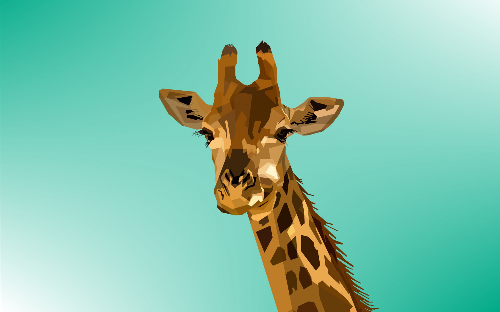 Digital drawing of a giraffe wallpaper 1680x1050