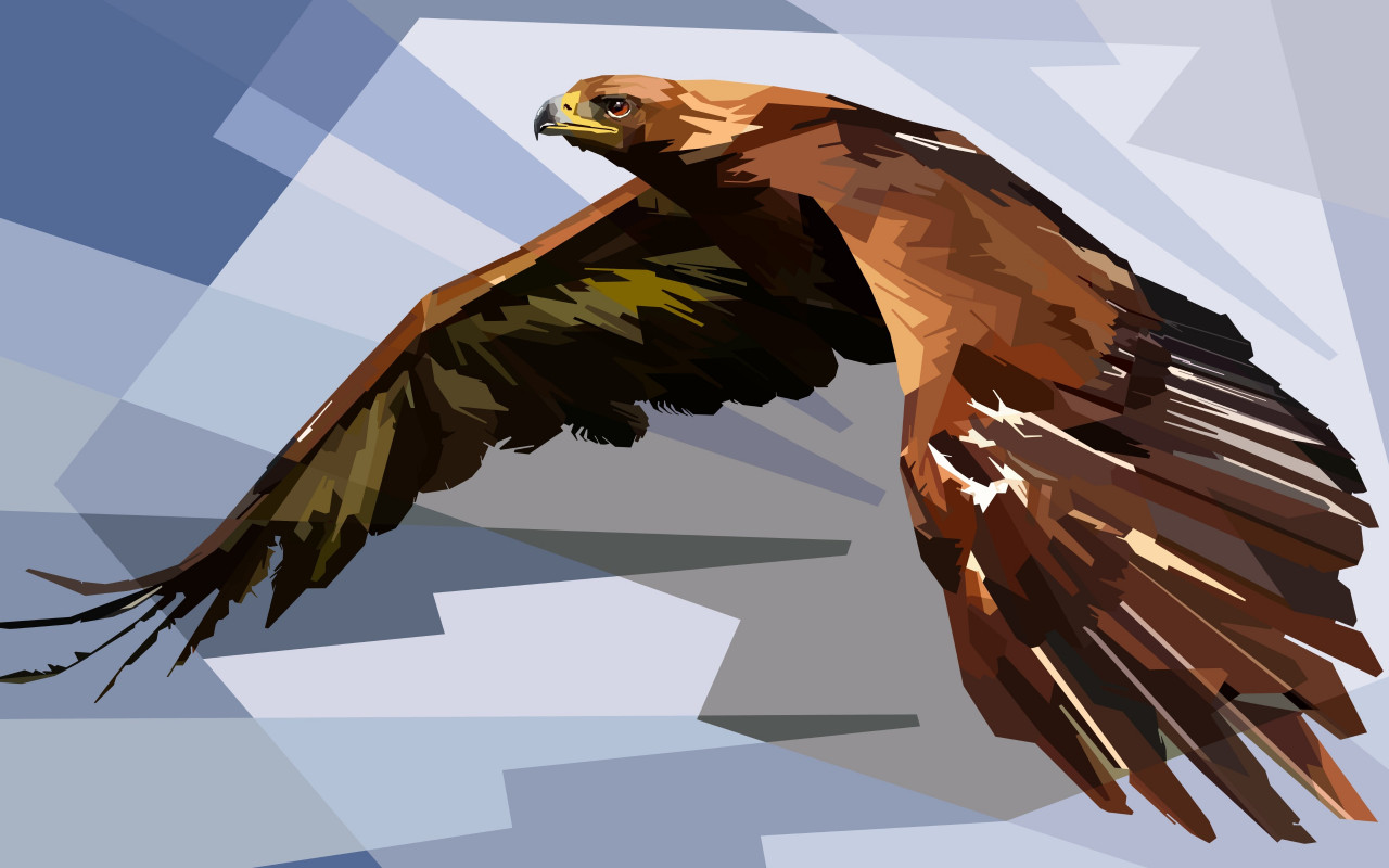 Digital drawing of an eagle wallpaper 1280x800