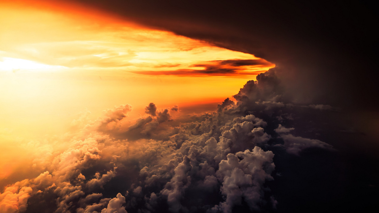 How is look the best sunset from airplane wallpaper 1280x720