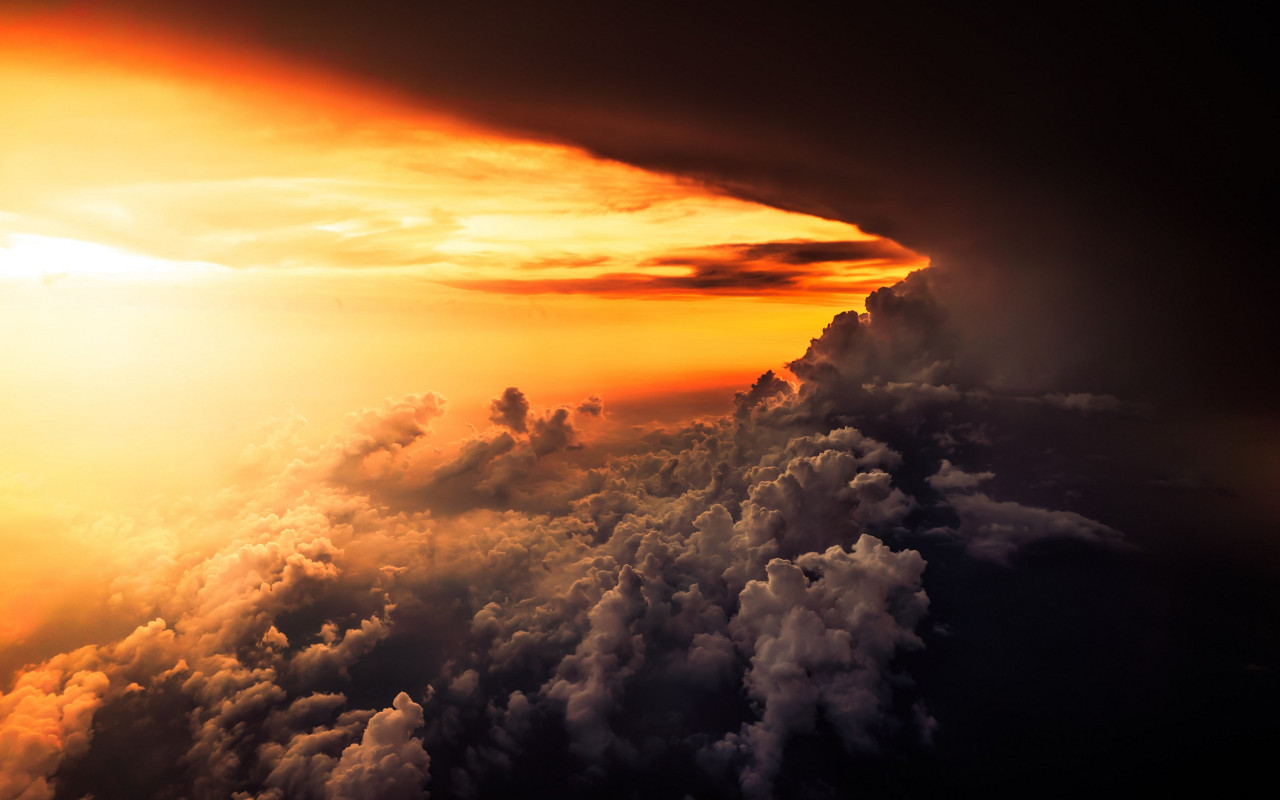 How is look the best sunset from airplane wallpaper 1280x800