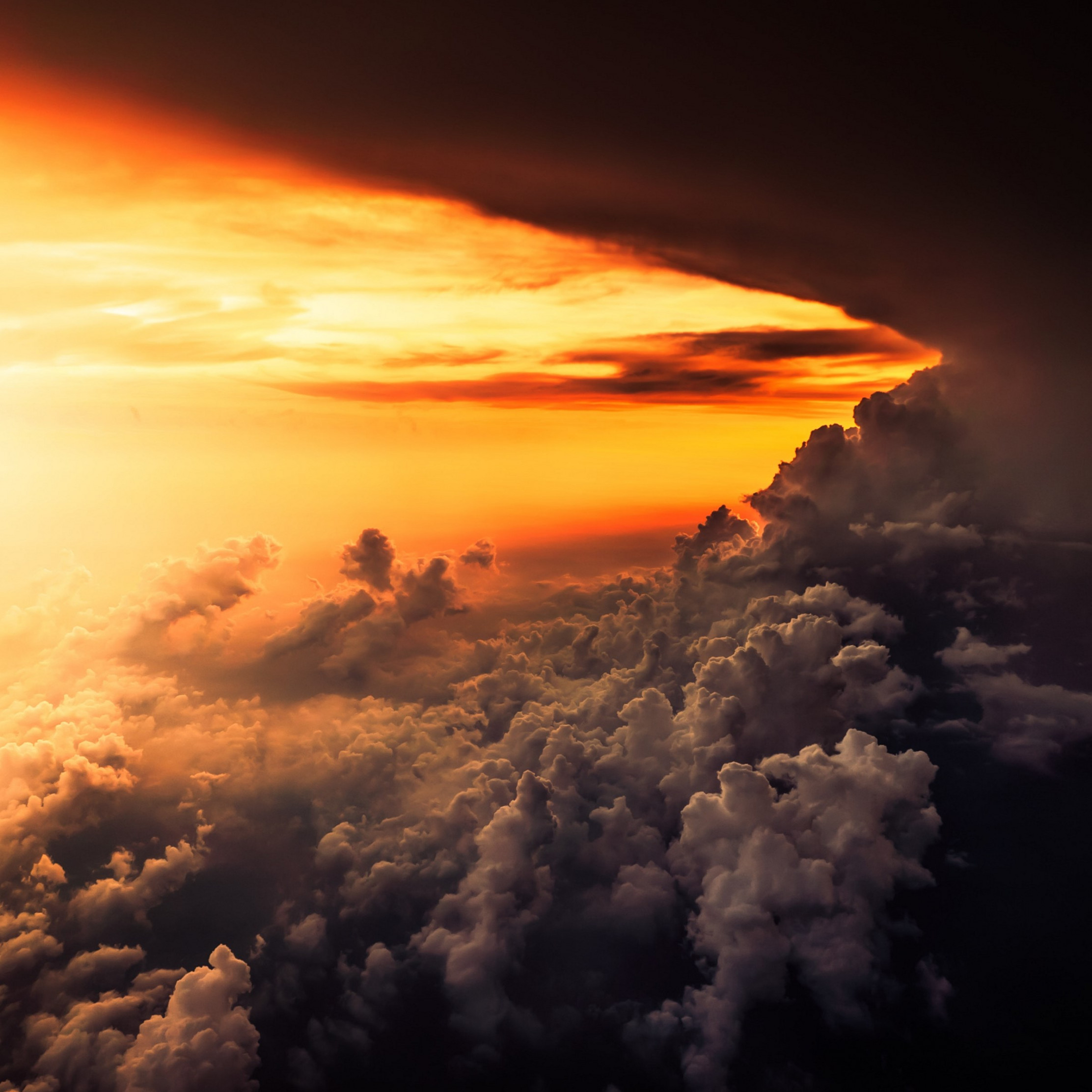 How is look the best sunset from airplane wallpaper 2224x2224