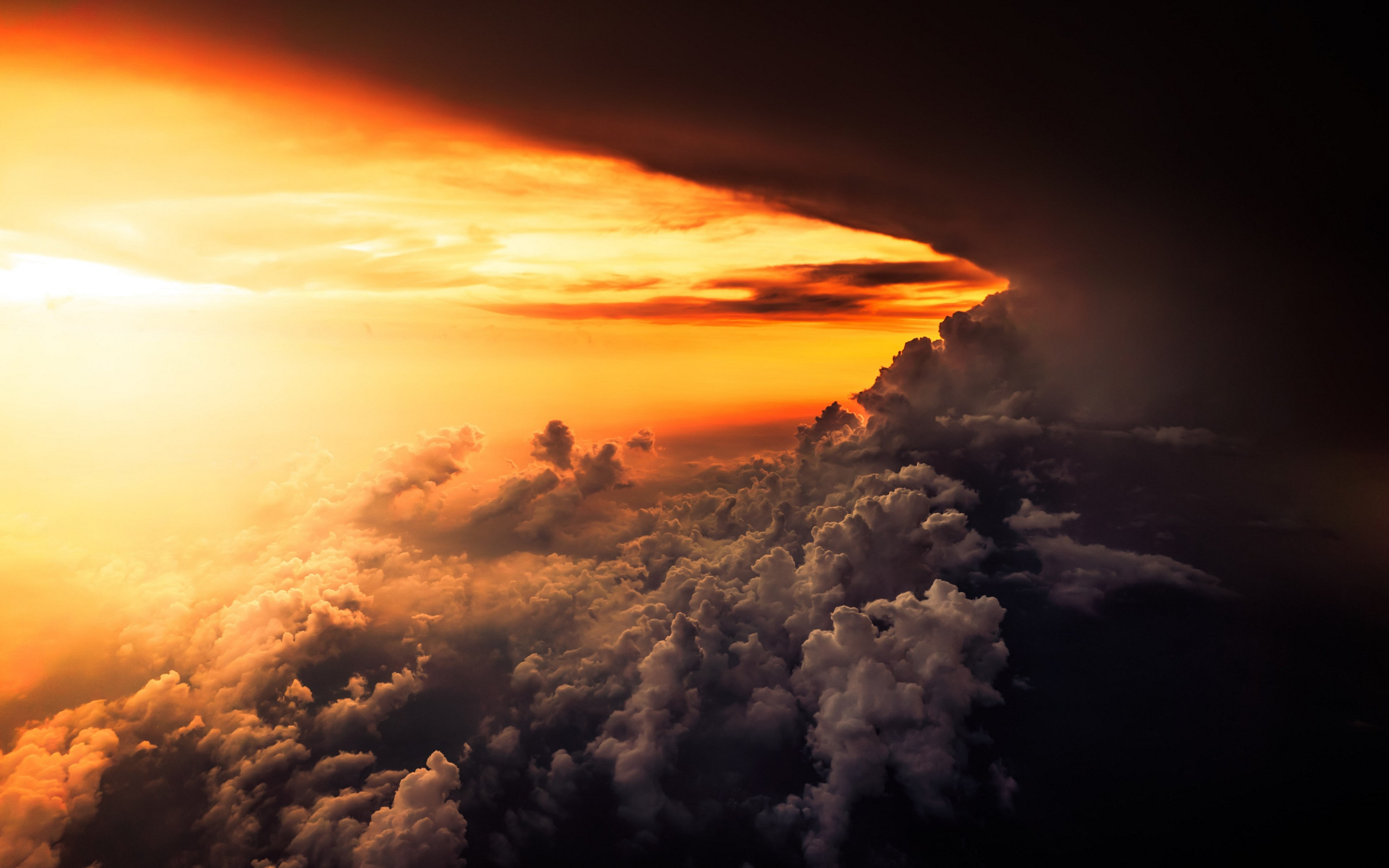 How is look the best sunset from airplane wallpaper 2560x1600