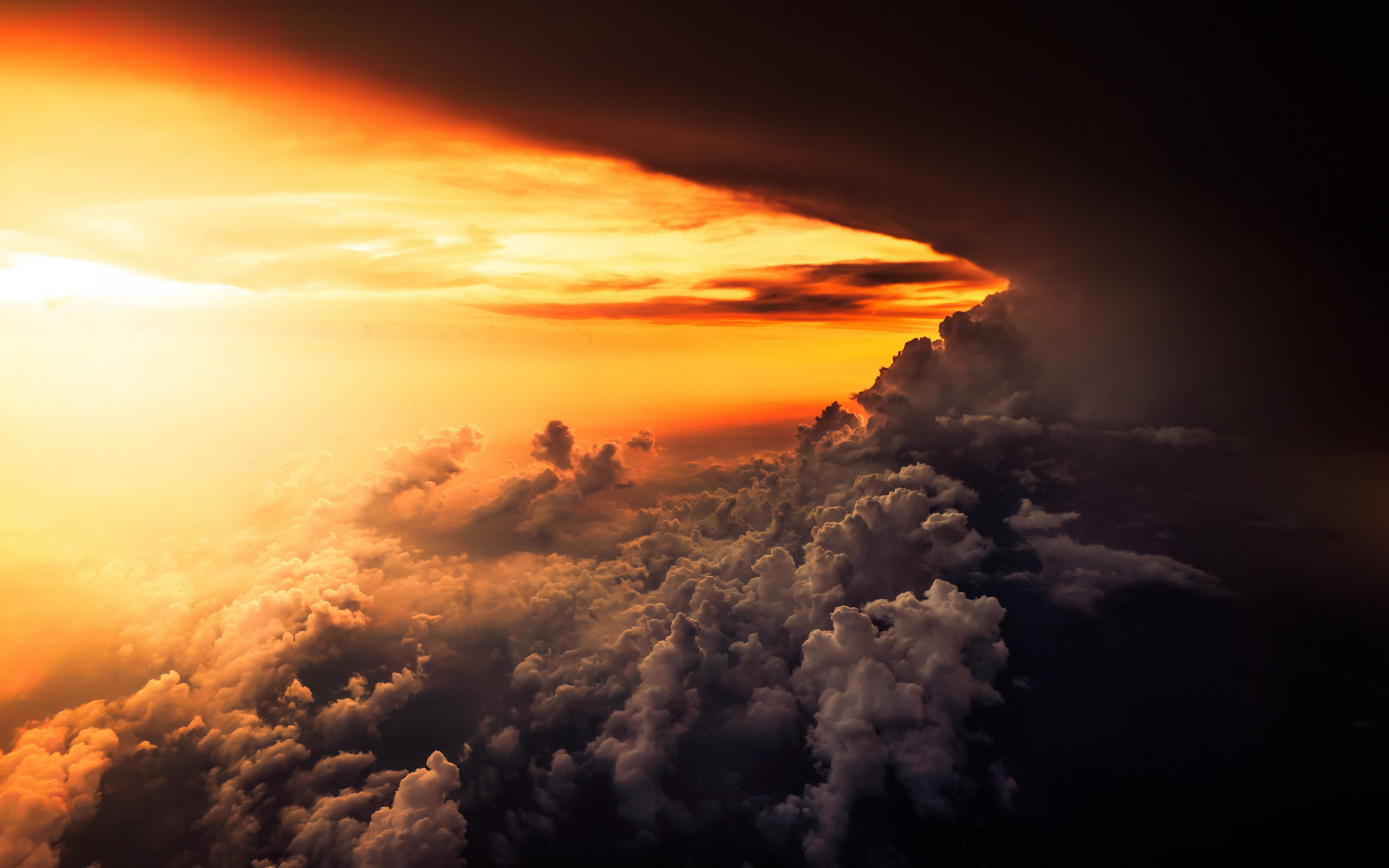 How is look the best sunset from airplane wallpaper 2880x1800