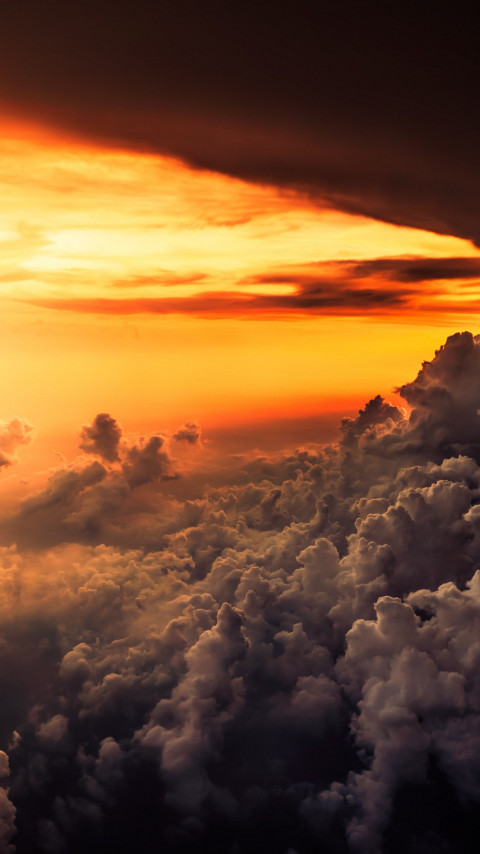 How is look the best sunset from airplane wallpaper 480x854