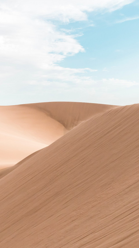On the sand dunes from Huacachina, Peru | 480x854 wallpaper