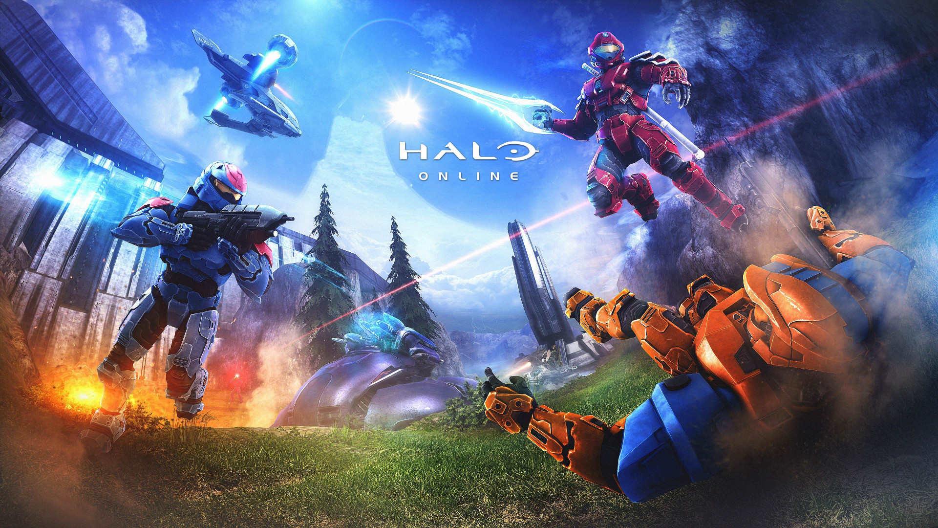 Download Wallpaper Halo Online 1920x1080