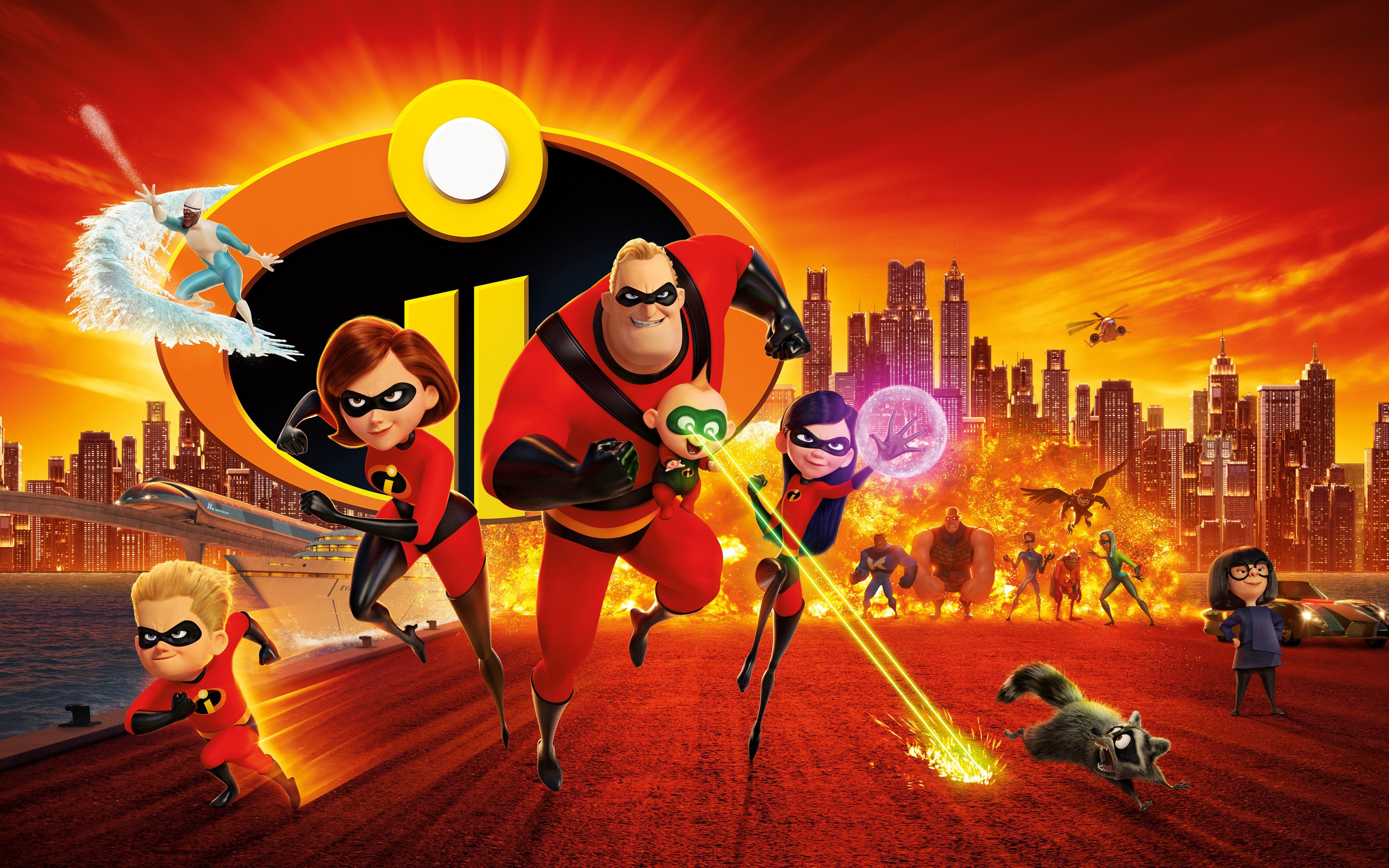 Incredibles 2 wallpaper 3840x2400