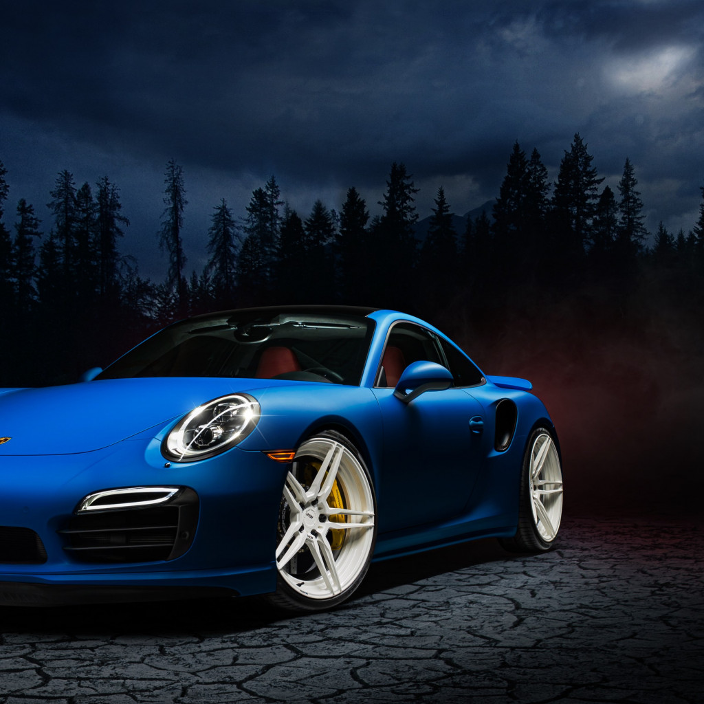 Porsche 911 blue | 1024x1024 wallpaper