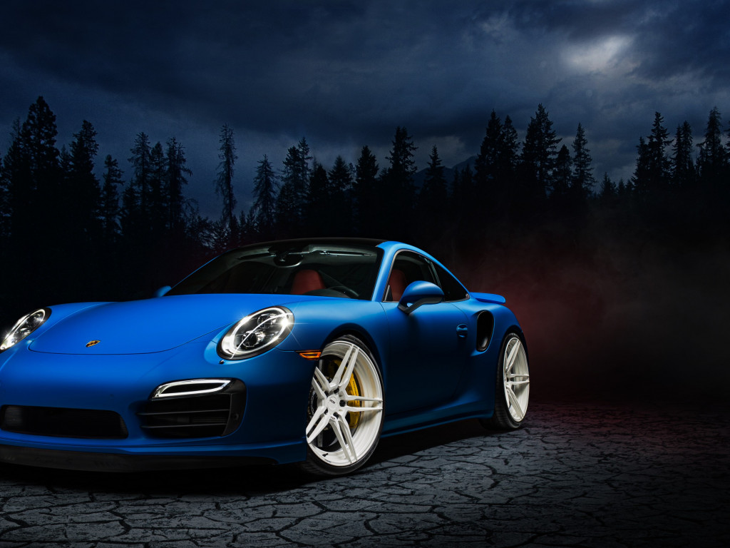 Porsche 911 blue wallpaper 1024x768