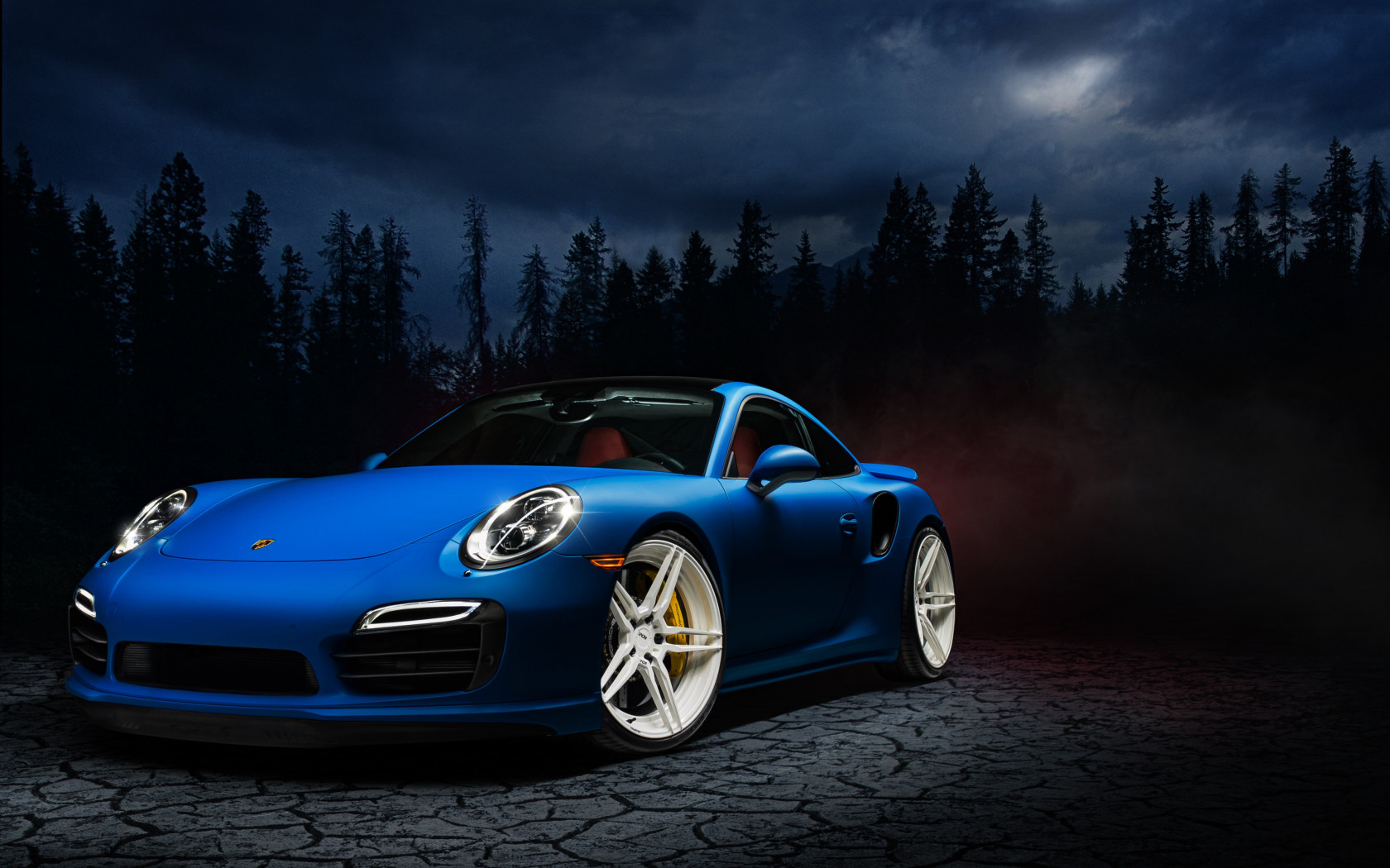 Porsche 911 blue wallpaper 1680x1050