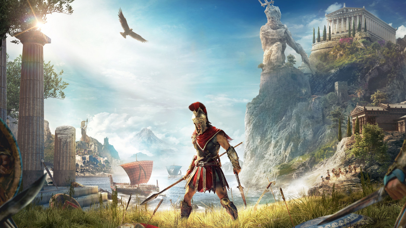 Assassin's Creed Odyssey wallpaper 1366x768