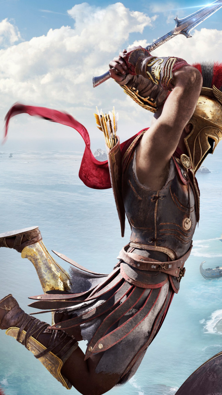 Assassin's Creed Odyssey screenshot wallpaper 750x1334