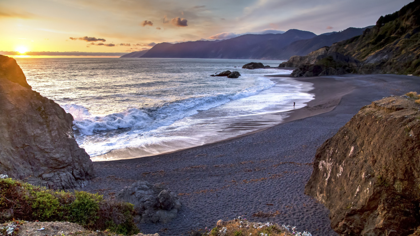 Sunset from Humboldt Coast wallpaper 1366x768