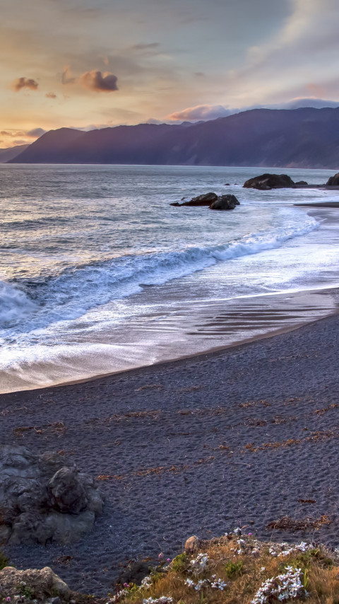 Sunset from Humboldt Coast wallpaper 480x854
